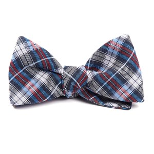 plaid outlook navy bow ties