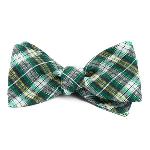 plaid outlook kelly green bow ties