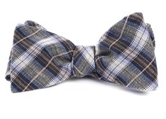 Bow Ties - Plaid Outlook - Light Blue