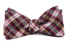 Bow Ties - Plaid Outlook - Red