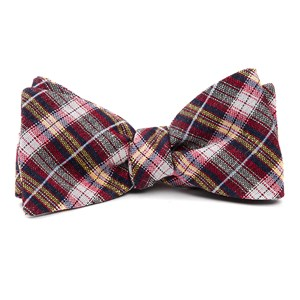 plaid outlook red bow ties