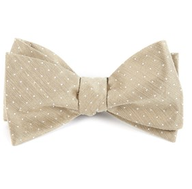 Champagne Destination Dots bow ties