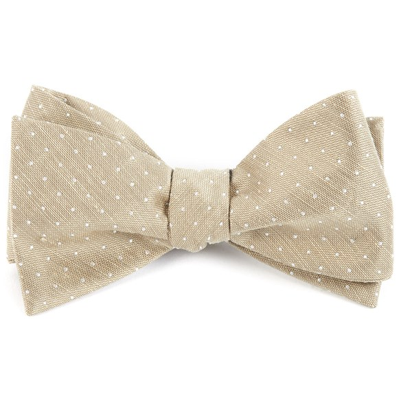 Champagne Destination Dots Bow Tie