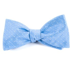 Light Blue Destination Dots bow ties