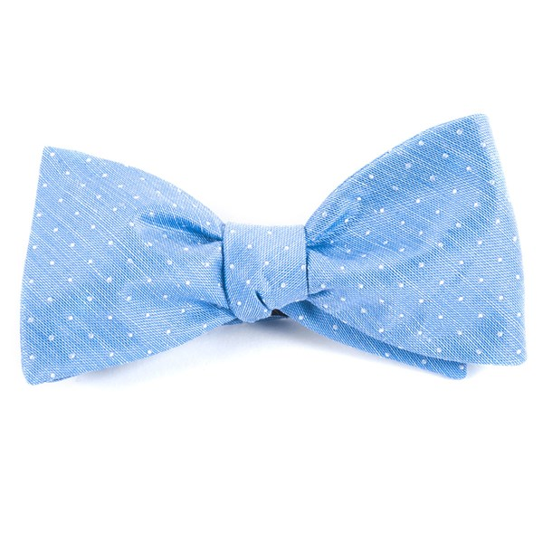 Light Blue Destination Dots Bow Tie