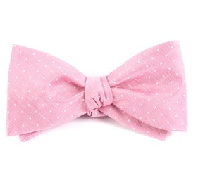 Pink Destination Dots boys bow ties