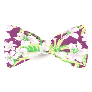 tropic of linen wine bow ties