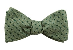 Bow Ties - Shock Dots - Clover Green