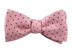 Bow Ties - Shock Dots - Baby Pink