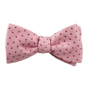 Shock Dots Baby Pink Bow Ties