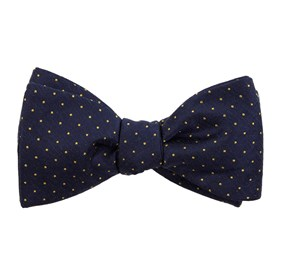 Navy Rivington Dots bow ties