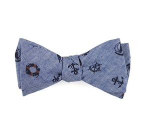 On Deck Warm Blue Bow Ties