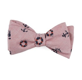 On Deck Light Red Bow Ties
