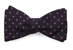 Bow Ties - Dotted Dots - Eggplant