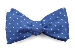 Bow Ties - Dotted Dots - Light Cobalt Blue