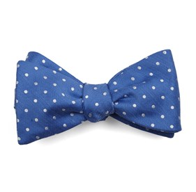 Light Cobalt Blue Dotted Dots bow ties