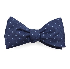 Classic Blue Dotted Dots bow ties