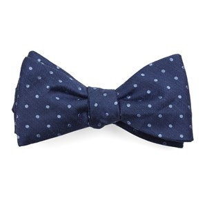 dotted dots classic blue bow ties