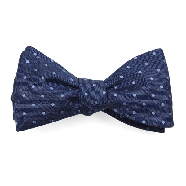Classic Blue Dotted Dots Bow Tie
