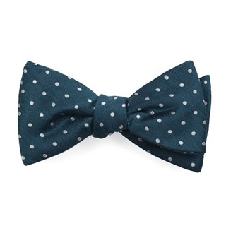 dotted dots teal bow ties