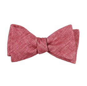 Red Freehand Solid bow ties