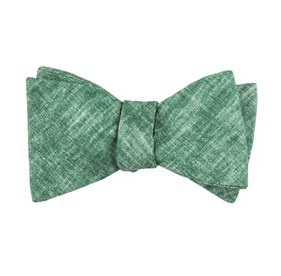 Green Freehand Solid bow ties