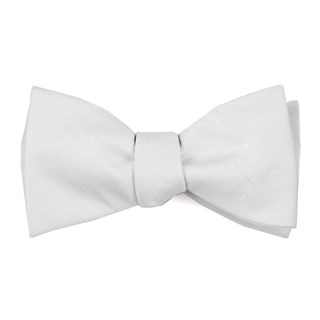 Bulletin Dot Ivory Bow Tie