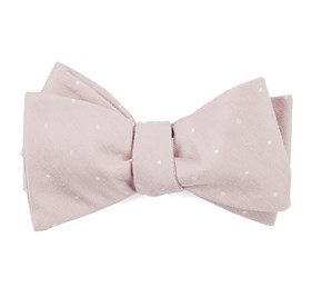 Blush Pink Bulletin Dot bow ties