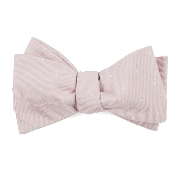 Blush Pink Bulletin Dot Bow Tie