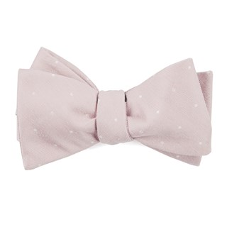bulletin dot blush pink bow ties