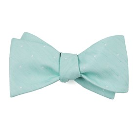 Spearmint Bulletin Dot bow ties