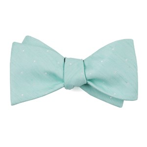 bulletin dot spearmint bow ties