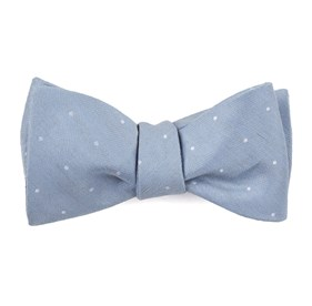 Slate Blue Bulletin Dot bow ties