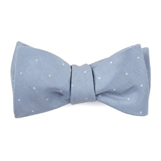 bulletin dot slate blue bow ties