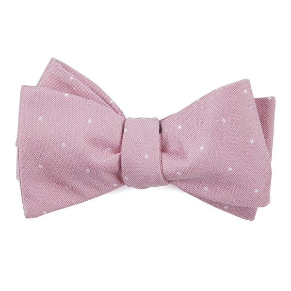 Pink Bulletin Dot Bow Tie