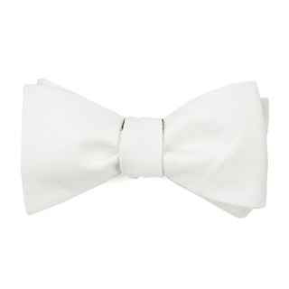 linen row ivory bow ties