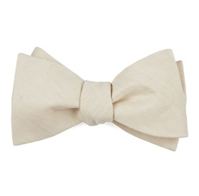 Light Champagne Linen Row boys bow ties