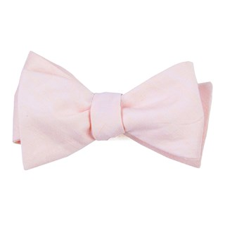 linen row blush pink bow ties