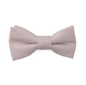 Blush Pink Linen Row boys bow ties
