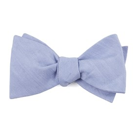 Sky Blue Linen Row boys bow ties