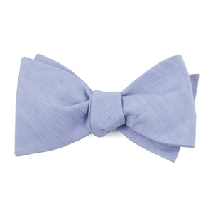 linen row sky blue bow ties