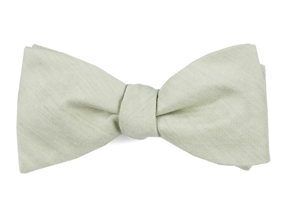 Linen Row - Sage Green - Self-Tie - Regular - Bow Ties