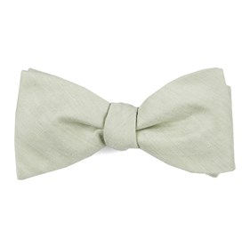 Sage Green Linen Row boys bow ties