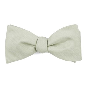 linen row sage green bow ties