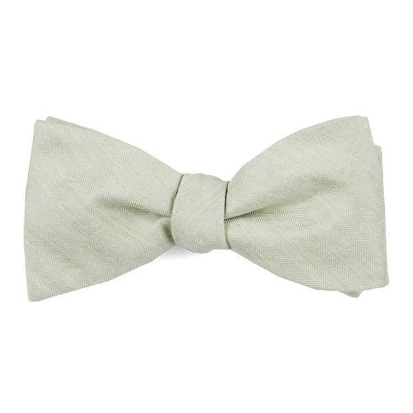 Sage Green Linen Row Bow Tie
