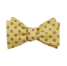 Yellow Medallion Scene bow ties