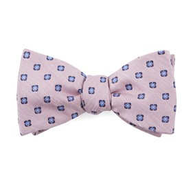 Baby Pink Medallion Scene bow ties