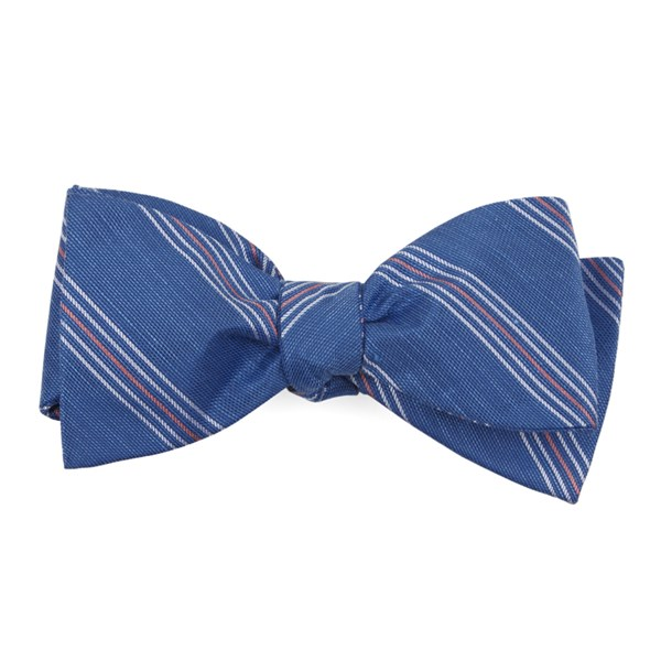 Light Cobalt Blue Derby Lane Stripe Bow Tie