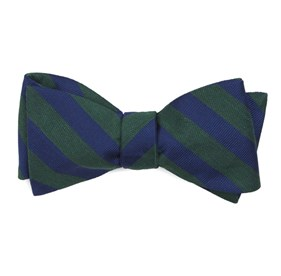 Lumber Stripe Hunter Green Bow Ties