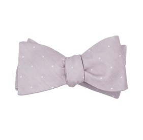 Mauve Stone Bulletin Dot bow ties